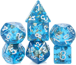 Resin Dice: Series 1 - Sea Floor Blue