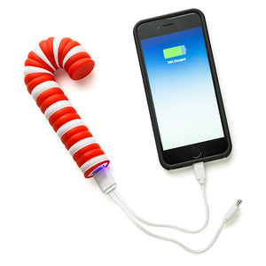 Holiday Mobile Power Bank - Candy Cane Shape - Set of 2