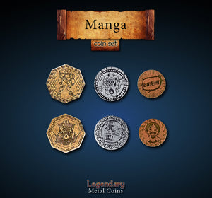 Legendary Metal Coins - Manga Coin Set