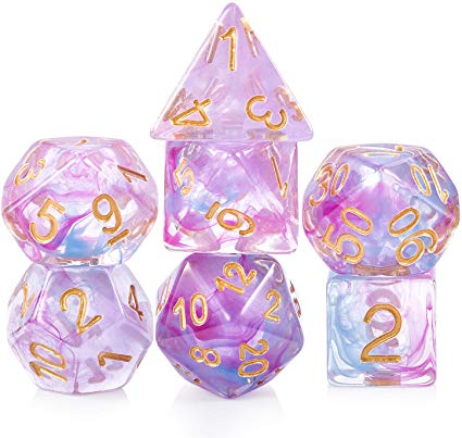 Resin Dice: Series 1 - Marbled Pink