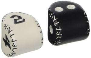 Runic Dice Set (Black and White D2 & White and Black D4)