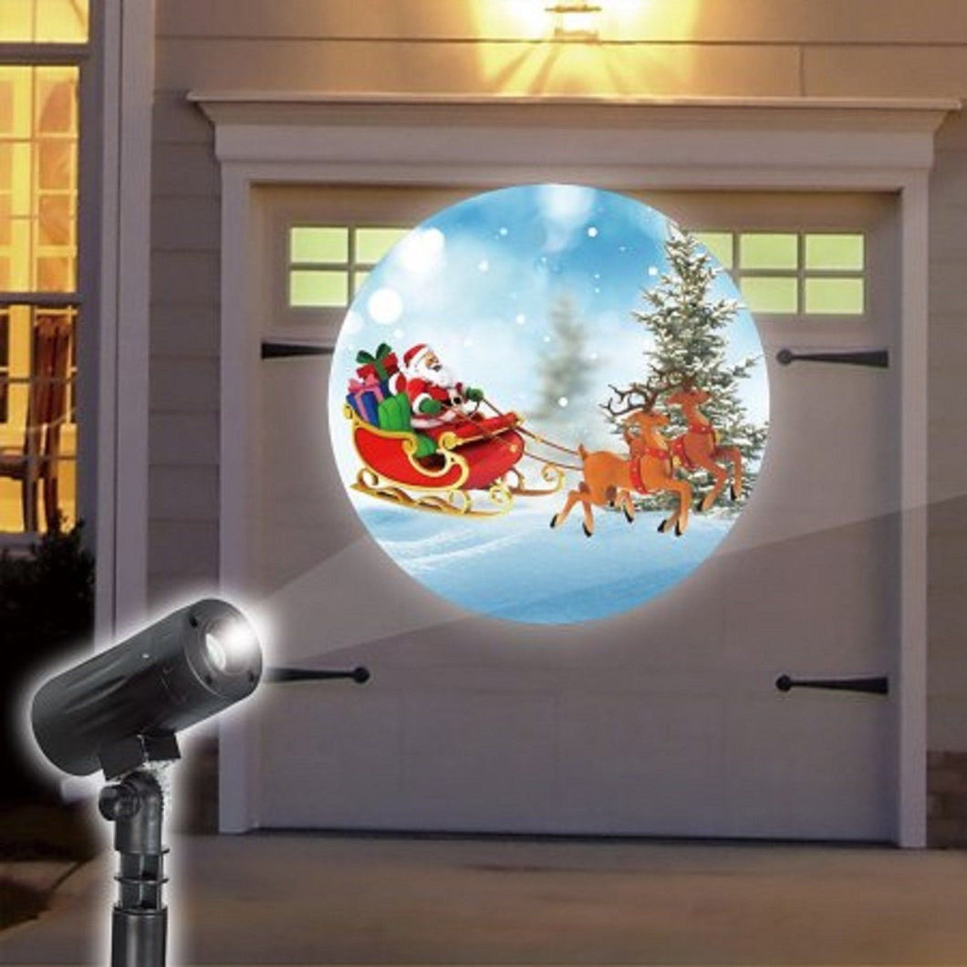EZ Illuminations Holiday Projector - Santa and Reindeer