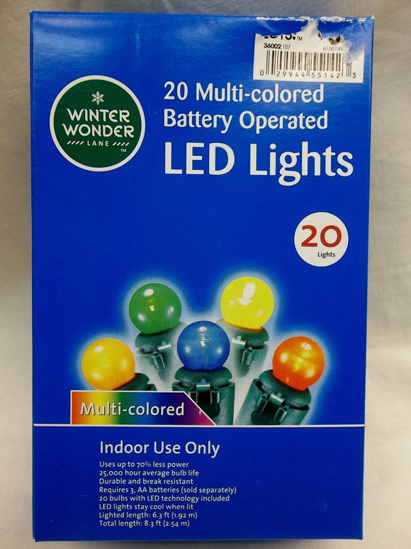 20 Multi-Colored Battery Operated Mini Lights