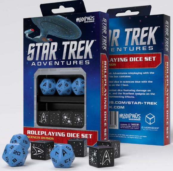 Star Trek Adventures Rpg: Sciences Blue Dice Set