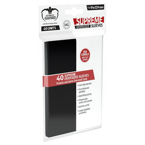 Supreme Oversize Card Sleeves (40 Piece), Black