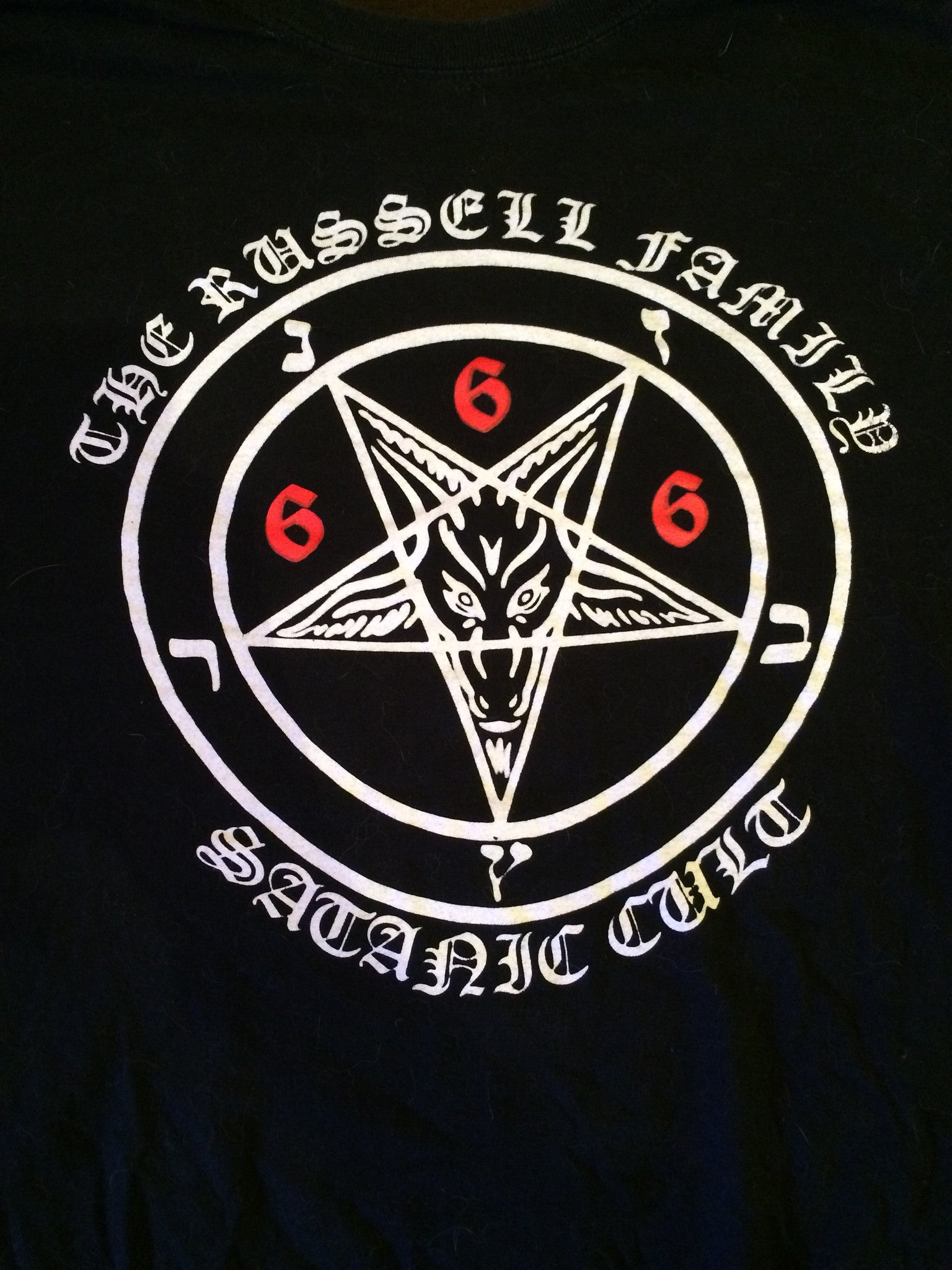 Cemetary Desekrator-The Russel Family Satanic Cult (LARGE SHIRT)