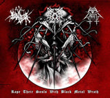 Evil Wrath / The True Endless / Gromm-Rape Their Souls With Black Metal Wrath (CD)