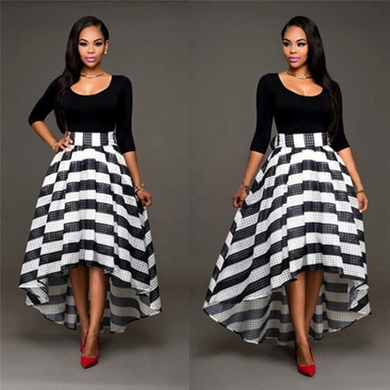 Striped Long Gown