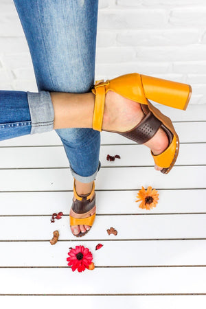 Mustard Brown High Heels