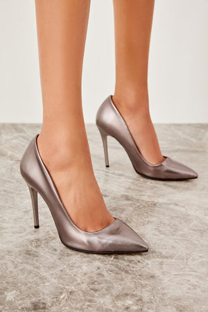 Women's Platinum High Heels