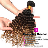 Ombre Brazilian Deep Wave Hair 3 Bundles