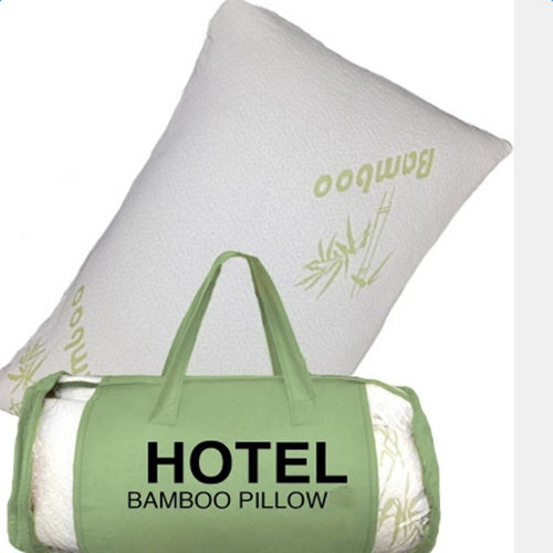 Queen Bamboo Memory Foam Pillow with Travel Bag