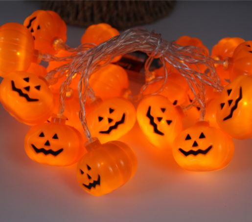 10 LED Decor Halloween Pumpkins Others - shop in usa - canada - UK - Spain - France - Germany - Netherlands - Sweden - I Warm White 1.2M