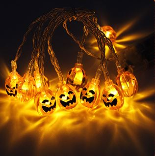 10 LED Decor Halloween Pumpkins Others - shop in usa - canada - UK - Spain - France - Germany - Netherlands - Sweden - A Warm White 1.2M