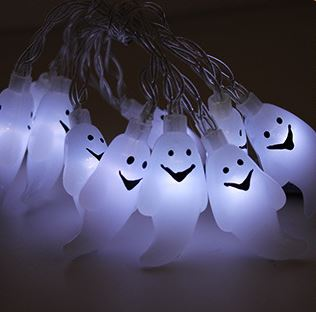 10 LED Decor Halloween Pumpkins Others - shop in usa - canada - UK - Spain - France - Germany - Netherlands - Sweden - B Warm White 1.2M