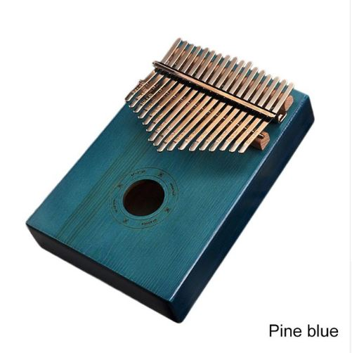 17Key Kalimba Mbira Sanza Finger Thumb Piano Toys, Kids & Baby / Toys & Hobbies / Action & Toy Figures - shop in usa - canada - UK - Spain - France - Germany - Netherlands - Sweden - Pine blue