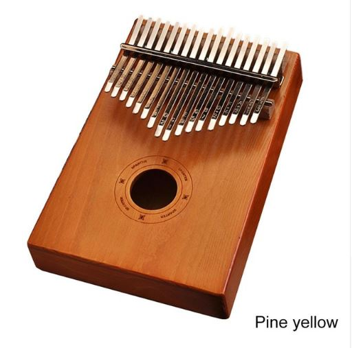 17Key Kalimba Mbira Sanza Finger Thumb Piano Toys, Kids & Baby / Toys & Hobbies / Action & Toy Figures - shop in usa - canada - UK - Spain - France - Germany - Netherlands - Sweden - Pine yellow