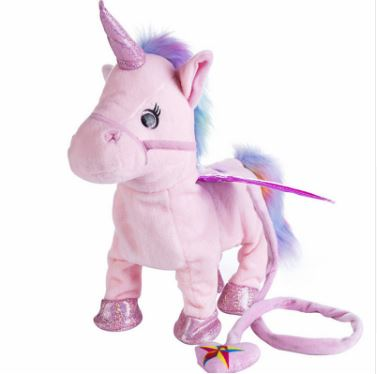 1pc Electric Walking Unicorn Plush Toy Toys, Kids & Baby / Toys & Hobbies / Stuffed & Plush Animals - shop in usa - canada - UK - Spain - France - Germany - Netherlands - Sweden - Pink