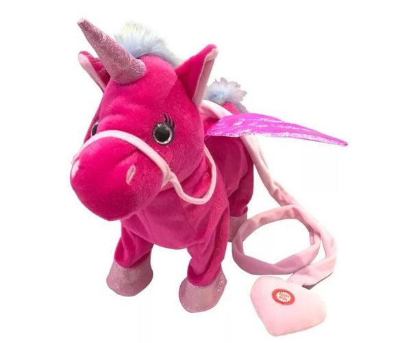 1pc Electric Walking Unicorn Plush Toy Toys, Kids & Baby / Toys & Hobbies / Stuffed & Plush Animals - shop in usa - canada - UK - Spain - France - Germany - Netherlands - Sweden - Rose red