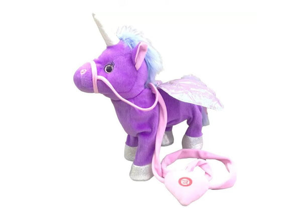 1pc Electric Walking Unicorn Plush Toy Toys, Kids & Baby / Toys & Hobbies / Stuffed & Plush Animals - shop in usa - canada - UK - Spain - France - Germany - Netherlands - Sweden - Purple