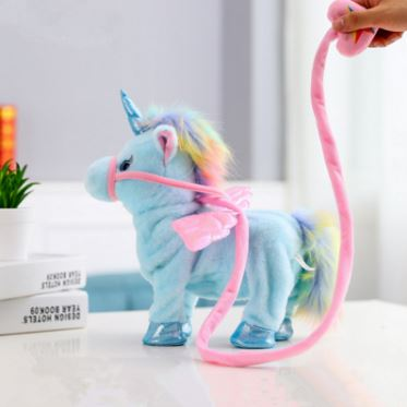 1pc Electric Walking Unicorn Plush Toy Toys, Kids & Baby / Toys & Hobbies / Stuffed & Plush Animals - shop in usa - canada - UK - Spain - France - Germany - Netherlands - Sweden -