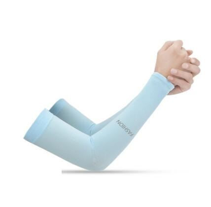 Anti-UV Ice Silk Gloves Sports & Outdoors / Cycling / Cycling Jerseys - shop in usa - canada - UK - Spain - France - Germany - Netherlands - Sweden - No Fingers skyblue Onesize Q1pcs
