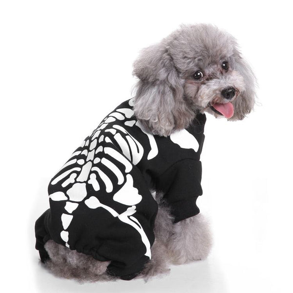Christmas & Halloween pet costumes Pets - shop in usa - canada - UK - Spain - France - Germany - Netherlands - Sweden - Skull head suit L