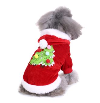 Christmas & Halloween pet costumes Pets - shop in usa - canada - UK - Spain - France - Germany - Netherlands - Sweden - Christmas tree L