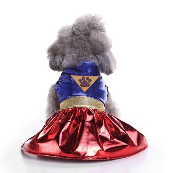 Christmas & Halloween pet costumes Pets - shop in usa - canada - UK - Spain - France - Germany - Netherlands - Sweden - Superman skirt M