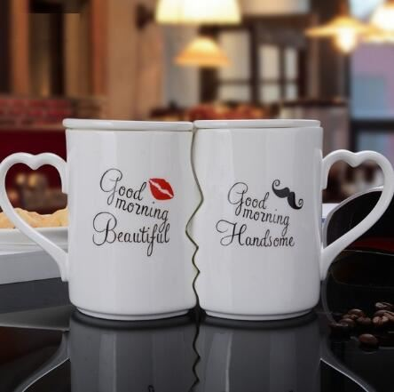 Couple of lovers cups mug personality cup ceramic cup Home & Garden, Furniture / Kitchen, Dining & Bar / Drinkware - shop in usa - canada - UK - Spain - France - Germany - Netherlands - Sweden - Moustache