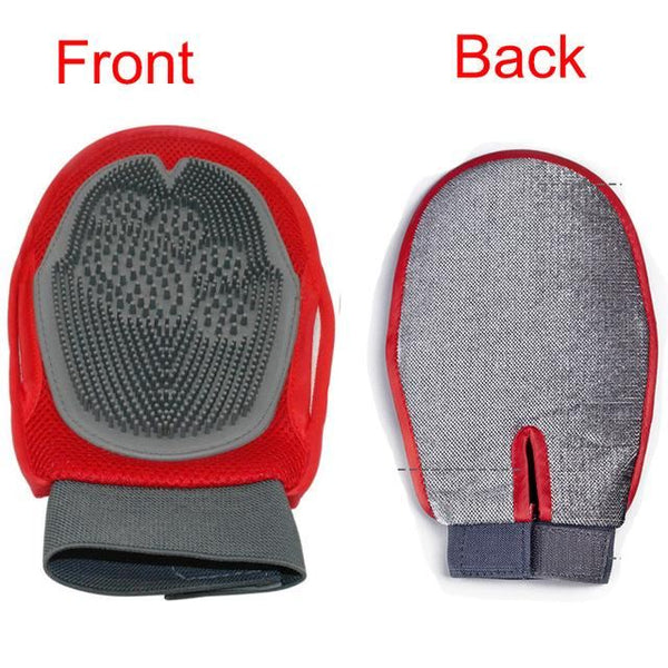 Dog fur Grooming Glove Mitt Brush Home & Garden, Furniture / Pet Products / Dog Supplies - shop in usa - canada - UK - Spain - France - Germany - Netherlands - Sweden - Black