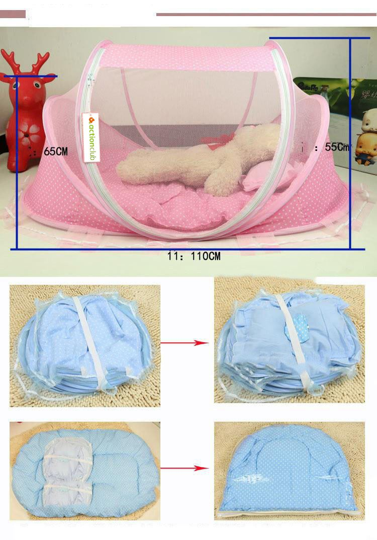 Foldable Baby Bed Net With Pillow Net 2pieces Set