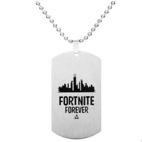 Fortnite Fortress Night Necklace Jewelry & Watches / Fashion Jewelry / Charms - shop in usa - canada - UK - Spain - France - Germany - Netherlands - Sweden - Silver 92
