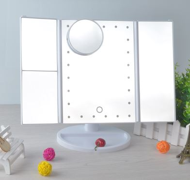 HD LED light makeup mirror Home & Garden, Furniture / Home Storage / Clothing & Wardrobe Storage - shop in usa - canada - UK - Spain - France - Germany - Netherlands - Sweden - White With magnifier