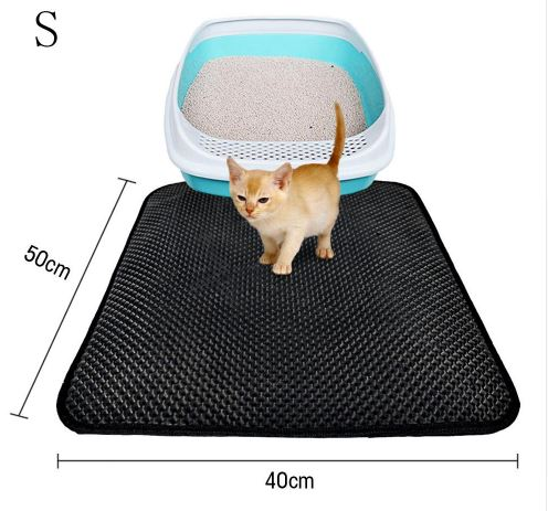 Honeycomb Double Layer Cat Litter Trapper Mats Home & Garden, Furniture / Pet Products / Cat Supplies - shop in usa - canada - UK - Spain - France - Germany - Netherlands - Sweden - S Black