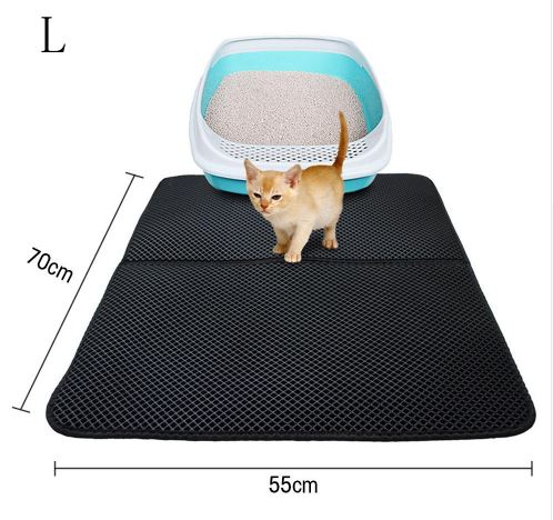 Honeycomb Double Layer Cat Litter Trapper Mats Home & Garden, Furniture / Pet Products / Cat Supplies - shop in usa - canada - UK - Spain - France - Germany - Netherlands - Sweden - L Black
