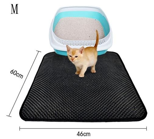 Honeycomb Double Layer Cat Litter Trapper Mats Home & Garden, Furniture / Pet Products / Cat Supplies - shop in usa - canada - UK - Spain - France - Germany - Netherlands - Sweden - M Black