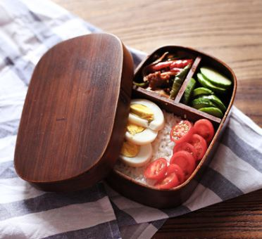 Japanese Wooden Lunch Box Home & Garden, Furniture / Home Storage / Kitchen Storage - shop in usa - canada - UK - Spain - France - Germany - Netherlands - Sweden - Brown 18X12X6CM