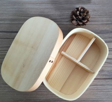 Japanese Wooden Lunch Box Home & Garden, Furniture / Home Storage / Kitchen Storage - shop in usa - canada - UK - Spain - France - Germany - Netherlands - Sweden - Wood color 18X12X6CM