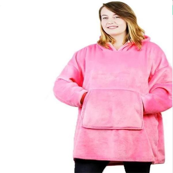 Luxurious Blanket Sweatshirt Clothing - Tops - shop in usa - canada - UK - Spain - France - Germany - Netherlands - Sweden - Pink One size