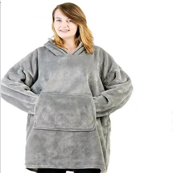 Luxurious Blanket Sweatshirt Clothing - Tops - shop in usa - canada - UK - Spain - France - Germany - Netherlands - Sweden - Grey One size