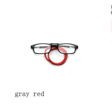 Magnetic reading glasses Men's Clothing / Accessories / Prescription Glasses - shop in usa - canada - UK - Spain - France - Germany - Netherlands - Sweden - 200 Gray red
