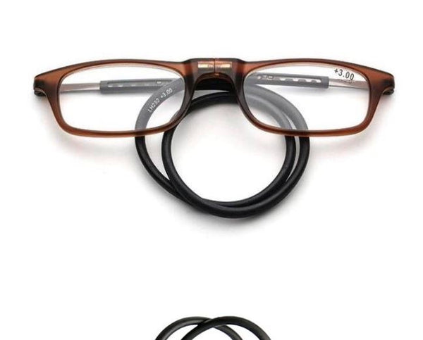 Magnetic reading glasses Men's Clothing / Accessories / Prescription Glasses - shop in usa - canada - UK - Spain - France - Germany - Netherlands - Sweden - 250 Brown
