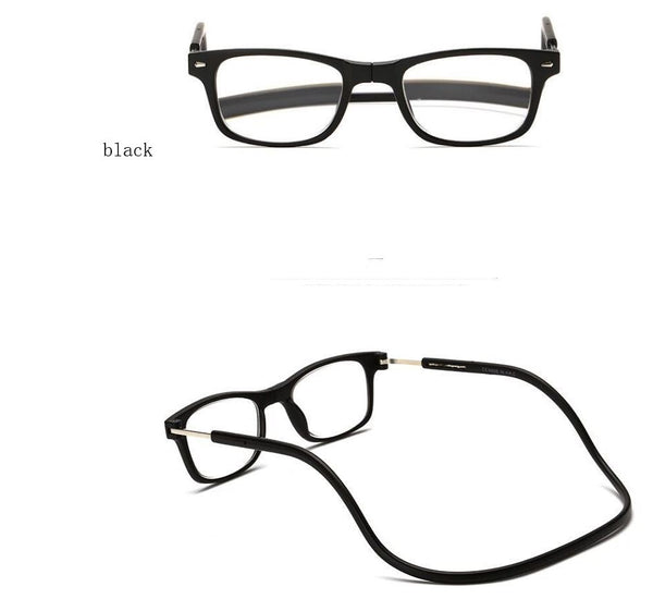 Magnetic reading glasses Men's Clothing / Accessories / Prescription Glasses - shop in usa - canada - UK - Spain - France - Germany - Netherlands - Sweden - 275 Black