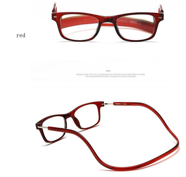Magnetic reading glasses Men's Clothing / Accessories / Prescription Glasses - shop in usa - canada - UK - Spain - France - Germany - Netherlands - Sweden - 150 Red