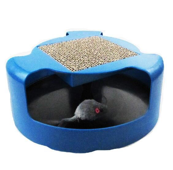 Mouse Motion Chase Toy with Scratch Pad Home & Garden, Furniture / Pet Products / Cat Supplies - shop in usa - canada - UK - Spain - France - Germany - Netherlands - Sweden - Blue