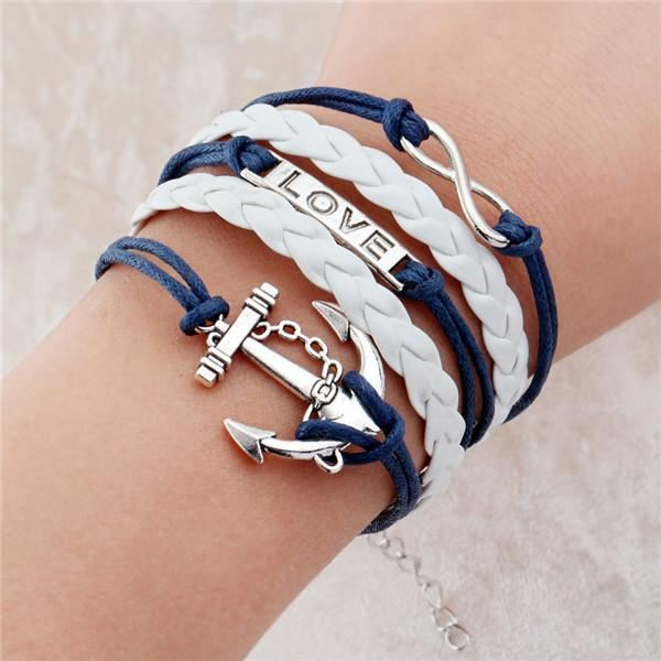 Multi-layer Leather Charm Bracelet Jewelry & Watches / Fashion Jewelry / Bracelets & Bangles - shop in usa - canada - UK - Spain - France - Germany - Netherlands - Sweden - 2pcs 10