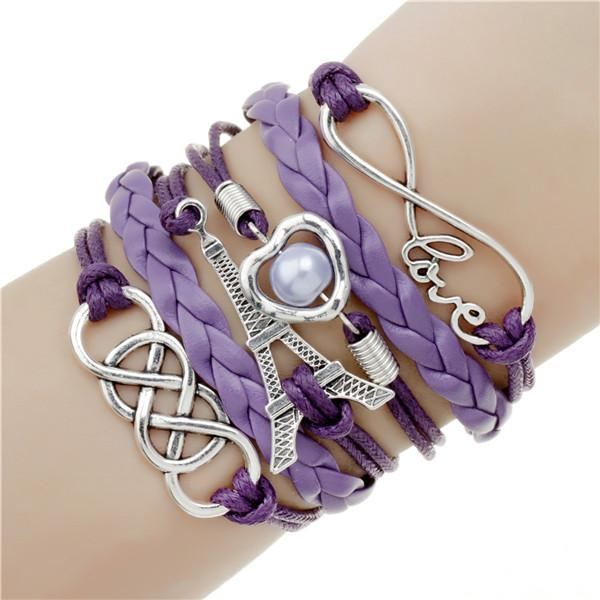 Multi-layer Leather Charm Bracelet Jewelry & Watches / Fashion Jewelry / Bracelets & Bangles - shop in usa - canada - UK - Spain - France - Germany - Netherlands - Sweden - 2pcs 13