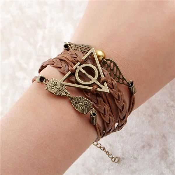 Multi-layer Leather Charm Bracelet Jewelry & Watches / Fashion Jewelry / Bracelets & Bangles - shop in usa - canada - UK - Spain - France - Germany - Netherlands - Sweden - 2pcs 4