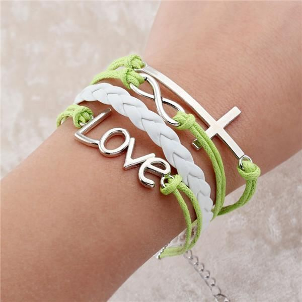 Multi-layer Leather Charm Bracelet Jewelry & Watches / Fashion Jewelry / Bracelets & Bangles - shop in usa - canada - UK - Spain - France - Germany - Netherlands - Sweden - 2pcs 2